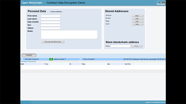 Contract Data Encryption Demo